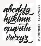calligraphic alphabet. vector... | Shutterstock .eps vector #612096398