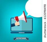 online advertising | Shutterstock .eps vector #612098498