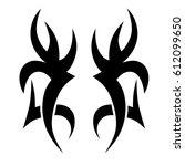 tattoo sketch tribal vector... | Shutterstock .eps vector #612099650
