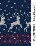 knitted christmas and new year... | Shutterstock .eps vector #612101234