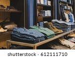 men clothing store | Shutterstock . vector #612111710