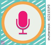 microphone icon. flat style for ...