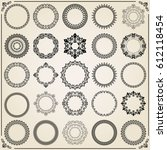 vintage set of vector round... | Shutterstock .eps vector #612118454