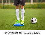 sports balance training.... | Shutterstock . vector #612121328