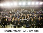 blurred background of crowd of... | Shutterstock . vector #612125588