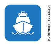 ship  boat flat icon  filled... | Shutterstock .eps vector #612131804