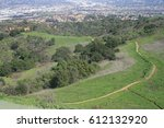 hiking trail leading through a... | Shutterstock . vector #612132920