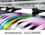 large printer format inkjet... | Shutterstock . vector #612136490