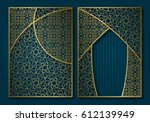 golden vintage book cover...   Shutterstock .eps vector #612139949