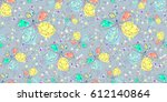 vector seamless pattern with... | Shutterstock .eps vector #612140864