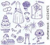 wedding doodle illustration