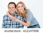 front view of man and blonde... | Shutterstock . vector #612147008