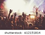 crowd at concert   summer music ... | Shutterstock . vector #612151814