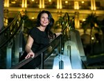 portrait of a beautiful... | Shutterstock . vector #612152360