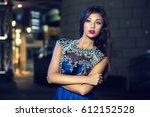 portrait of a beautiful... | Shutterstock . vector #612152528