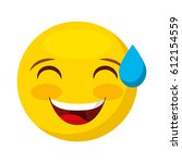 comic face emoticon isolated... | Shutterstock .eps vector #612154559