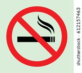 no smoking warning icon | Shutterstock .eps vector #612157463