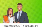 young business man and woman... | Shutterstock .eps vector #612160814