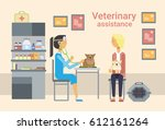 medical doctor veterinarian... | Shutterstock .eps vector #612161264