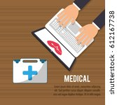 medical onilne aid health care | Shutterstock .eps vector #612167738