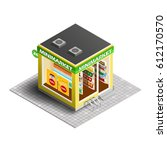 vector isometric illustration... | Shutterstock .eps vector #612170570