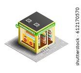 vector isometric illustration... | Shutterstock .eps vector #612170570