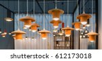 decoration hanging lamps made... | Shutterstock . vector #612173018