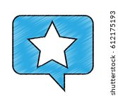 speech bubble with star icon...