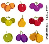 set of colorful different... | Shutterstock .eps vector #612175994