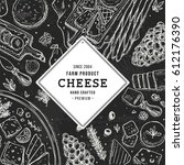 cheese vertical banner... | Shutterstock .eps vector #612176390