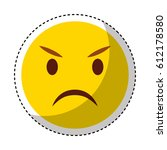 comic face emoticon isolated... | Shutterstock .eps vector #612178580