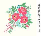 illustration with decorative... | Shutterstock .eps vector #612180044