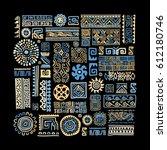 ethnic handmade ornament for... | Shutterstock .eps vector #612180746