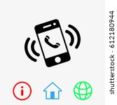 smart phone vector icon | Shutterstock .eps vector #612180944