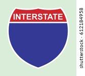 american interstate symbol | Shutterstock .eps vector #612184958