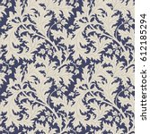 seamless floral pattern. hand... | Shutterstock .eps vector #612185294