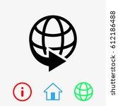 web icon stock vector...   Shutterstock .eps vector #612186488
