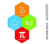 colorful stem logo | Shutterstock .eps vector #612193253
