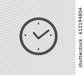 clock vector icon eps 10.... | Shutterstock .eps vector #612194804