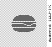 burger vector icon. fast food... | Shutterstock .eps vector #612194840