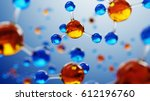 3d illustration of molecule... | Shutterstock . vector #612196760