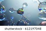 3d illustration of glass... | Shutterstock . vector #612197048