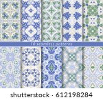 ten classic seamless patterns.... | Shutterstock .eps vector #612198284