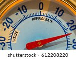 fridge thermometer | Shutterstock . vector #612208220