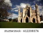 st albans cathedral on sunny day | Shutterstock . vector #612208376