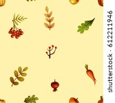 autumn. pattern | Shutterstock . vector #612211946