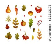 autumn. objects | Shutterstock . vector #612213173