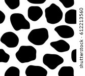 black and white giraffe skin.... | Shutterstock .eps vector #612213560