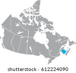map canada vector | Shutterstock .eps vector #612224090