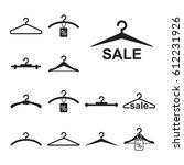 simple black clothes hanger... | Shutterstock .eps vector #612231926